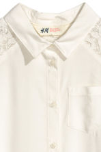 Sleeveless blouse - White - Kids | H&M CN 3